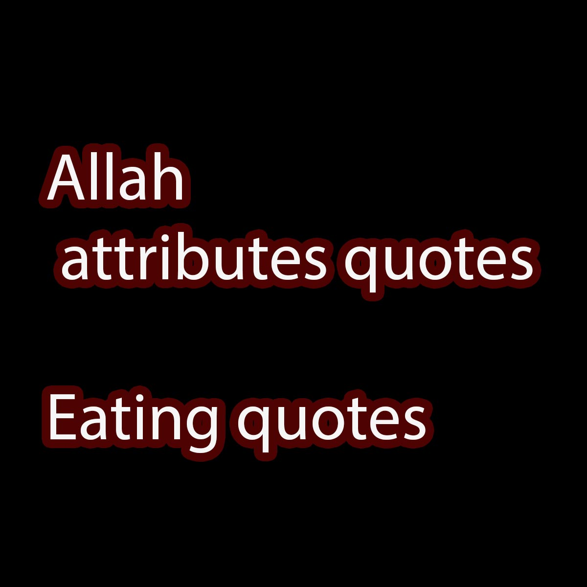 Allah quotes eating quotes
