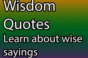 Wisdom quotes wise sayings