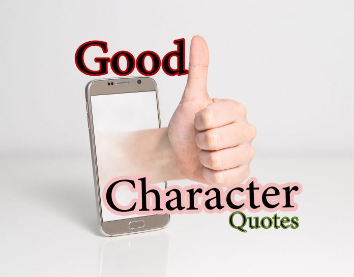Good Character quotes traits