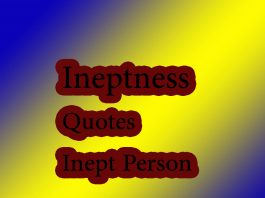 ineptness quotes inept person