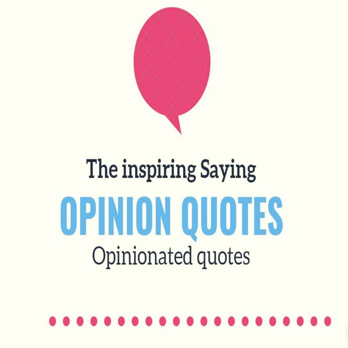 Opinion and opinionated quotes
