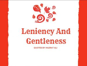 Leniency And Gentleness quotes